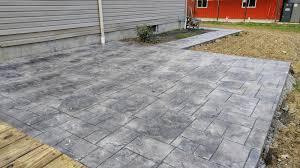 Photos Of Stamped Concrete Patios by Diy Stamped Concrete Deck To Patio U2013 Part 2 U2013 Bonded By Wood U0026 Glue