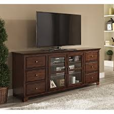 tv unit with glass doors rectangle black wooden tv stand with three shelves also curving
