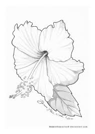 hibiscus tattoo design final by dawnstarw on deviantart