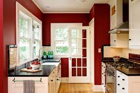 Red Kitchens With White Cabinets C B I D Home Decor And Design Rebirth
