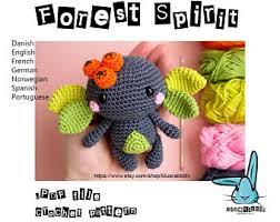 pattern language digital baby cthulhu amigurumi crochet pattern language english