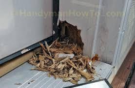 Replacing An Exterior Door Threshold Replacing Exterior Door Jamb And Threshold Caulking The Gaps