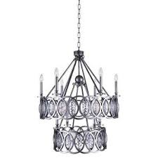 Black Metal Chandeliers Black Candle Style Chandeliers Hanging Lights The Home Depot