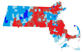 Plymouth Massachusetts Map by Red Towns Blue State South Shore Communities Rank As Most Right