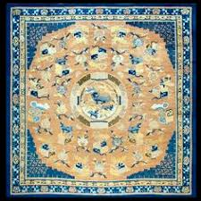 Antique Chinese Rugs Antique Chinese Metallic Silk Rug 48129 Main Image By Nazmiyal