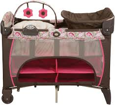 Pink And Brown Graco Pack N Play With Changing Table Marvelous Pink And Brown Graco Packplay With Changing Table U