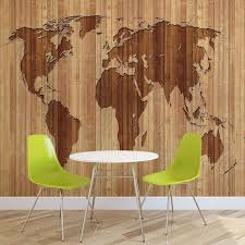 maps wall murals wallpaper murals buy online at europosters world map wood wallpaper mural
