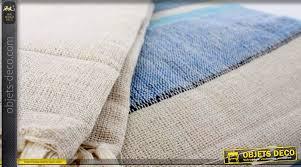 canapé coton plaid de canapé couvre lit 240 x 260 coton é bleu et blanc