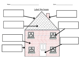 label the house by ruthbentham teaching resources tes