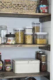Glass Canisters Kitchen Farmhouse Pantry Makeover Little Glass Jar