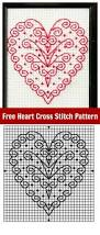 free heart cross stitch pattern for valentine u0027s day plaid online