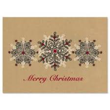 brown christmas cards kraft sted snowflakes standard christmas cards current catalog
