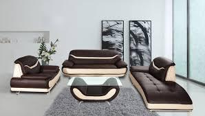 wade logan phillipsburg 3 piece faux leather modern living room