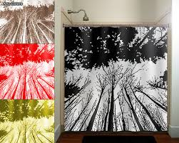Shower Curtains With Trees Forest Grove Woodland Winter Trees Shower Curtain Bathroom Decor