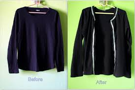 No Sew Project How To - favourite things t shirt to cardigan a simple low sew no sew project