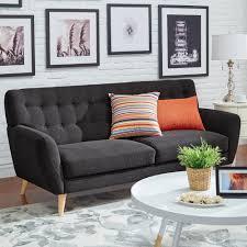 Button Tufted Sofa by Home Decorators Collection Gordon Natural Linen Sofa 0849400400