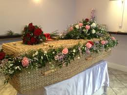 coffin flowers funeral flowers coffin garland red rose coffin
