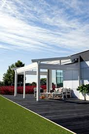 Electric Awning Covered Terrace With Electric Awning Interior Design Ideas