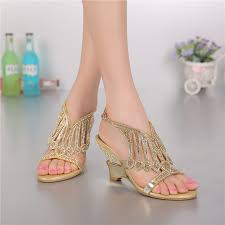 wedding shoes size 12 2016 summer style gold coloured high heeled sandals rhinestone