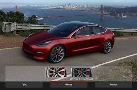 tesla model 3 design studio will initially have choice of color