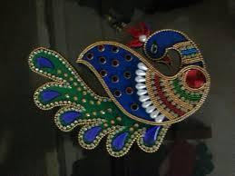 buy beautiful handmade peacock kankavati from craftshopsindia