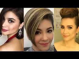 pinoy short hair style celebrities who cut their hair short 2017 youtube