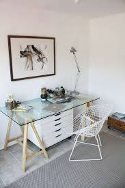 Home Office Glass Desk Small Home Office Design Ideas Glass Desk Hello Lovely Living