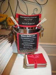 Retirement Centerpiece Ideas by Retirement Party Idea Bucket List Decorate A Bucket For Guests