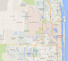 Palm Springs Map West Palm Beach Florida Map