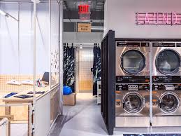 eagle opens futuristic store concept with free laundry