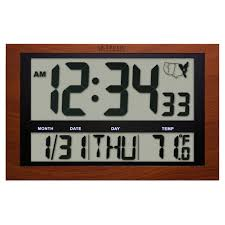 Digital Atomic Desk Clock La Crosse Technology Atomic Digital Wall Clock With Indoor Outdoor