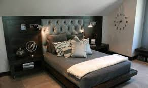 Guys Bedroom Designs With Brown Headboard And Bedding And Curtains - Guys bedroom designs