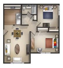Bed Two Bedroom House Floor Plans