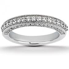 wedding rings pave images Pave and bead set diamond wedding band in wedding bands excel jpg