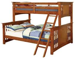 Spring Creek Mission Style Extra Long Twin Over Queen Size Bunk - Extra long twin bunk bed