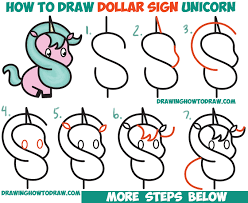 how to draw thanksgiving how to draw a cute cartoon unicorn kawaii from a dollar sign