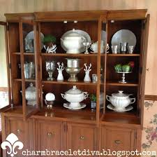 The White China Barn Our Hopeful Home China Cabinet Styling Reveal