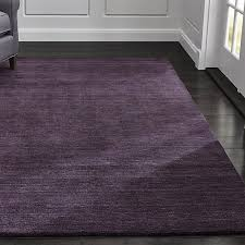 Purple Area Rugs Baxter Plum Purple Wool Rug Crate And Barrel