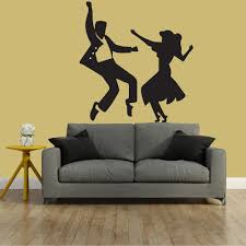 dance wall art shenra com hand jive dancers set wall sticker dance wall art