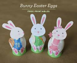 easter rabbits decorations kid friendly bunny easter egg decorations with free printables