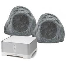 sonos connect amp q install qi65 outdoor rock speaker home audio