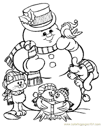 large snowman coloring page large print christmas coloring pages fun for christmas