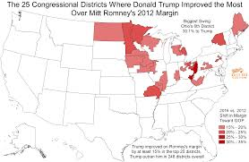 2016 Presidential Map These 25 Congressional Districts Saw The Biggest Swing Toward