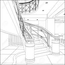 Home Design Drawing Home Design Spiral Staircase Pencil Drawing Eclectic Medium