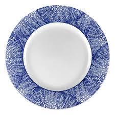 monogrammed plate sea fan blue monogrammed plates accessories caskata