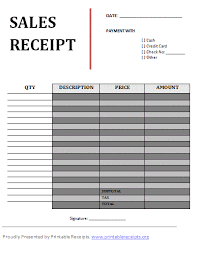 9 free printable sales receipt template budget template letter