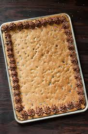 homemade sheet pan cookie cake recipe this classic chocolate