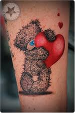 tattered teddy bears tattoos pictures to pin on pinterest tattooskid