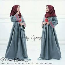 Grosir Baju Muslim dres grey gamis terbaru grosir baju muslim supplier bandung