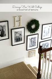 Ideas To Decorate Staircase Wall Decorating With Boxwood Wreaths Wall Collage Collage And Lemon